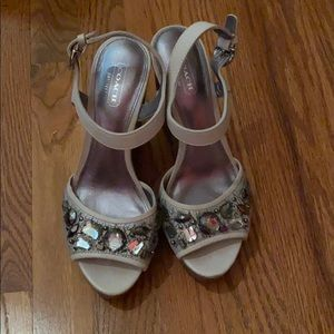 Coach Hansen Jeweled Wedges